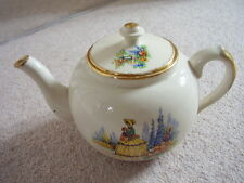 Antique Staffordshire England big porcelain tea pot