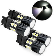 4 X 3157 White 6000K Back Up Reverse Projector Cree+12-SMD Chip LED Lights Bulbs