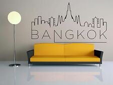 Wall Vinyl Sticker Decal Skyline Horizon Panorama City Bangkok Thailand F1833