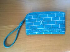 Authentic Marc By Marc Jacobs Nylon Small Pouch With String Blue