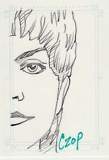 Women of Star Trek Voyager John Czop / Kes Sketch Card a