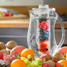 2.7L CLEAR FRUIT INFUSION PITCHER PARTY JUG CORE FLAVOUR INFUSER ICED TEA WATER