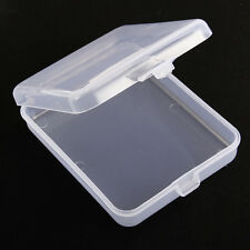 Clear Plastic Transparent With Lid Storage Box Collection Container Home