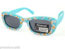 POLAROID Kinder Mädchen Polarisierende Sonnenbrillen Blau Gummi / Grau B604 148