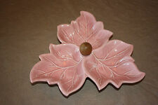 Serving Dish Vintage Glazed Maple Leaf Candy Serving Dish Pink