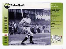 Babe Ruth 1994 Grolier  Life In America  5X6 card   NY Yankees