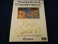 King's Quest VI: Heir Today, Gone Tomorrow (PC, 1993) **BRAND NEW** Sealed!