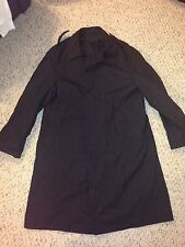Neptune Garment Company Mens All Weather Black Trench Coat Size 38 Short