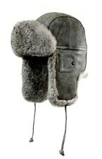 Vintage Cowhide Leather Aviator Hat, Size Large, MSRP $175