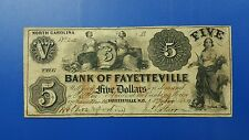 1853 $5.00 Bank of Fayetteville, N.C. P-820