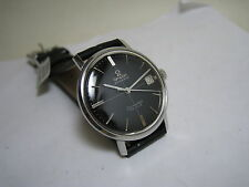 OMEGA SEAMASTER DE VILLE AUTOMATIC DATE BLACK DIAL STAINLESS STEEL 1962 WATCH