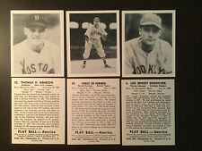 1939 Play Ball MLB reprints baseball cards - One card - MLB LEGENDS