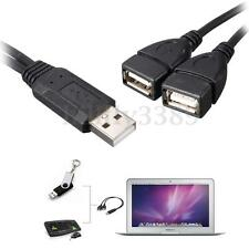 1PCS USB 2.0 A Male to 2 Double Dual USB Female Jack Y Splitter Cable HUB Cord