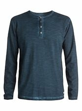Quiksilver Runaround L/S Buttom Down Blue (BRQ0) Knits Shirts Sz Medium