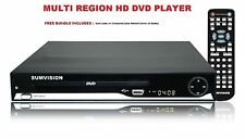 MULTI REGION HD 1080p UPSCALING DVD PLAYER HDMI SCART USB SD Slots DivX XviD NEW