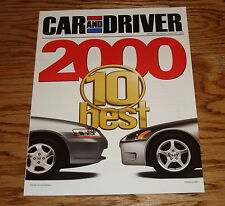 2000 Honda Accord / S2000 Car and Driver Sales Brochure 00