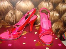 CHAUSSURE ESCARPIN SANDALE FREE LANCE T 38 ROSE FONCE VERNI FRENCH SHOES