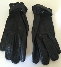 Ladies Leather Gloves XL Extra Large Motorcycle