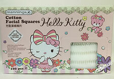 Hello Kitty Cotton Facial Square Sheet for make-up removal & cleansing 100pcs