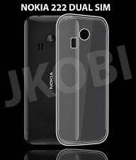 Premium Soft Silicone TPU Clear Back Case Cover For NOKIA 222 NOKIA 222 DUAL SIM