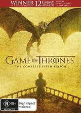 Game Of Thrones : Season 5 (DVD, 2016, 5-Disc Set) Region 4 (ORIGINAL NO FAKE)