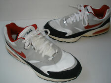 2008 NIKE AIRMAX BURST LEATHER RUNING SHOES US 15 EUR 49.5  WHITE/VARSITY RED