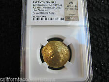 Gold Coin Ancient Byzantine CONSTANTINE X, (1059 - 1067) CHRIST HISTAMENON NOMIS