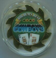 COWBOYS KK Pair of Kings gold colored Spinner Poker Guard Cover Protector
