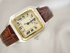 CARTIER PANTHERE WATCH 18K Yellow Stainless Steel cartier Watch Mid SizeCartier