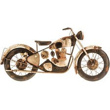 Harley Davidson MOTORCYCLE RUSTIC METAL WALL ART - Black and SIlver Rusty Piece