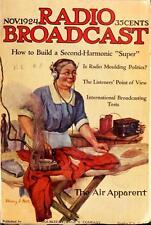 RADIO BROADCAST MAGAZINE 96 issues vacuum tubes repair shortwave DVD 1922-1929