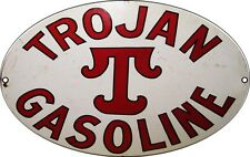 Reproduction Trojan Gasoline Motor Oil And Gas Station Sign
