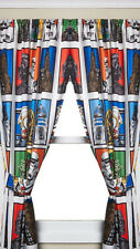 Star Wars 2pk Decorative Curtains 1x1.6m each - Boys Drapes Panels NEW