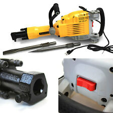 HD 3600 Watt Electric Demolition Jack Hammer Concrete Breaker Punch + Chisel Bit