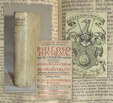 1706 Greek Philosophy Compendium historiae philosophicae Origenes Eutropius