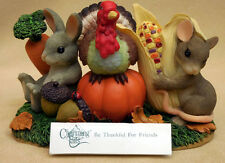 """CHARMING TAILS, FITZ AND FLOYD, """"BE THANKFUL FOR FRIENDS"""" ITEM 85/500"""