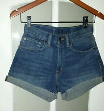 Ralph lauren new SUMMER BLUE DENIM high waist SHORTS SIZE 24 34 6 XS rpr £95