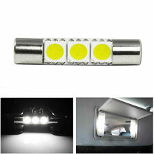 1X Xenon White 3-SMD 6641 LED Bulb For Car Sun Visor Vanity Mirror Fuse Lights