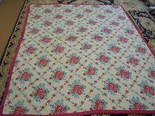 Cute Printed Cloth Flower Pattern w/Flower Sashing Quilt