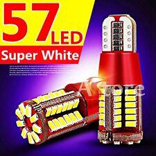 2 Lampade Lampadine LED T10 NO Errore 57 LED SMD 3014 BIANCO Xenon Posizione W5W