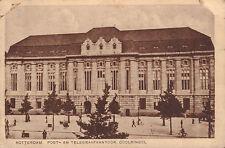 ANSICHTKAART ROTTERDAM POST- EN TELEGRAAFKANTOOR COOLSINGEL (ca. 1930)