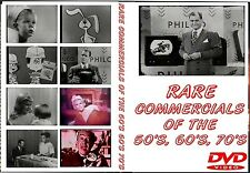 COMMERCIALS GALORE! 2 PACK DVD CHOCK FULL OF VINTAGE 50'S 60'S 70'S 140+ MIN