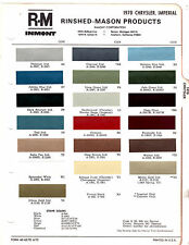 1970 CHRYSLER IMPERIAL NEW YORKER 300 NEWPORT 70 PAINT CHIPS RINSHED MASON 4