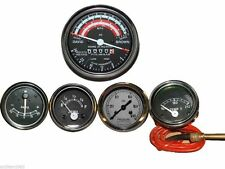 David Brown Tractor Tachometer + Tempe  + Oil Pressure + Ammeter + Fuel Gauge