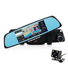 """junsun 6.86"""" Dual Lens Car GPS DVR Rearview Mirror Camera Full HD 1080P video"""