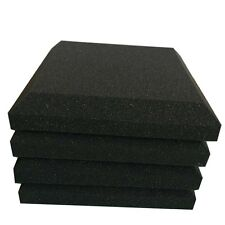 4 PCS Acoustic Panels Studio Soundproofing Wall Tiles in Black