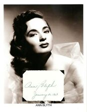 Ann Blyth Autograph Veda Mildred Pierce Watch on the Rhine The Great Caruso