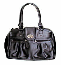TOMMY AND KATE WOMENS HANDBAG HAND BAG DARK BROWN REAL LEATHER NEW