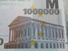 NEW €1 Million Banknote Bill E1,000,000 Euro Novelty Millionaire Gift Europe LOL