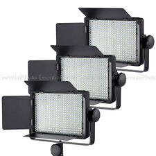 3x LECO500 Video Lights LED Panel Dimmable Control Interview Remote